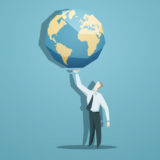 40749578 - businessman holding the world in his hands.